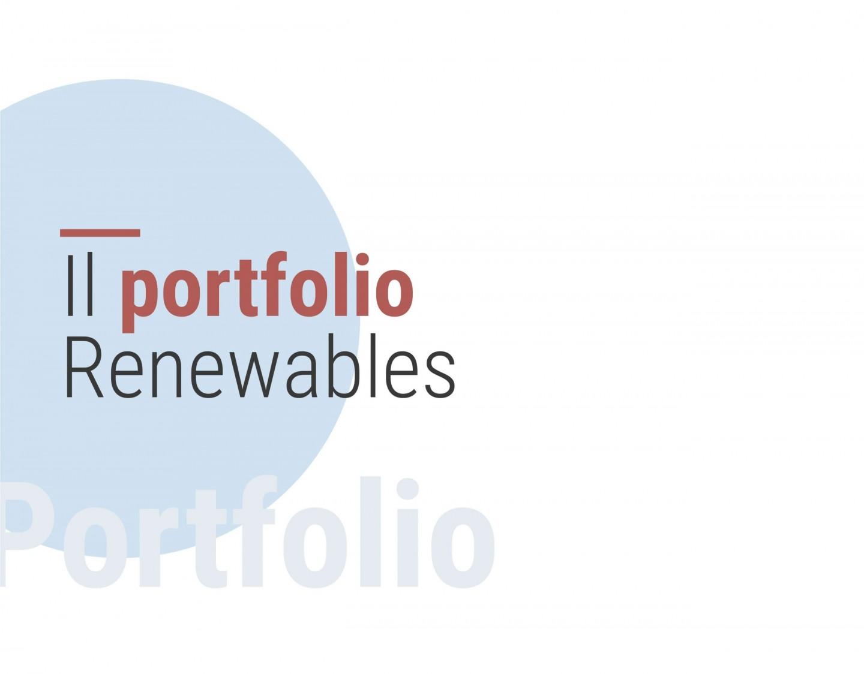 Il portfolio Renewables di PFH - Palladio Holding